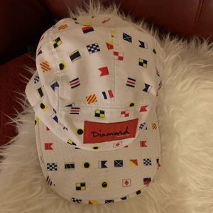 White Diamond brand hat with flags